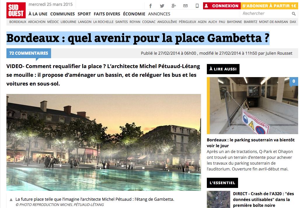 Quel avenir pour la place Gambetta ?